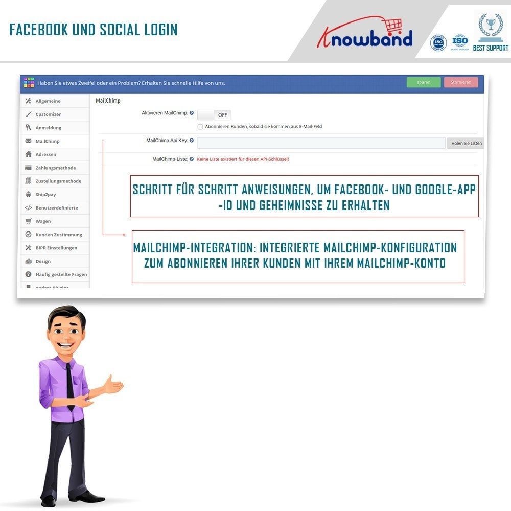 module - Express Checkout Prozesse - One Page Checkout, Social Login & Mailchimp - 6