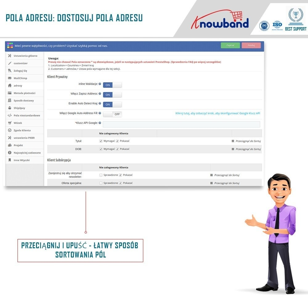 module - Szybki proces składania zamówienia - One Page Checkout, Social Login & Mailchimp - 13