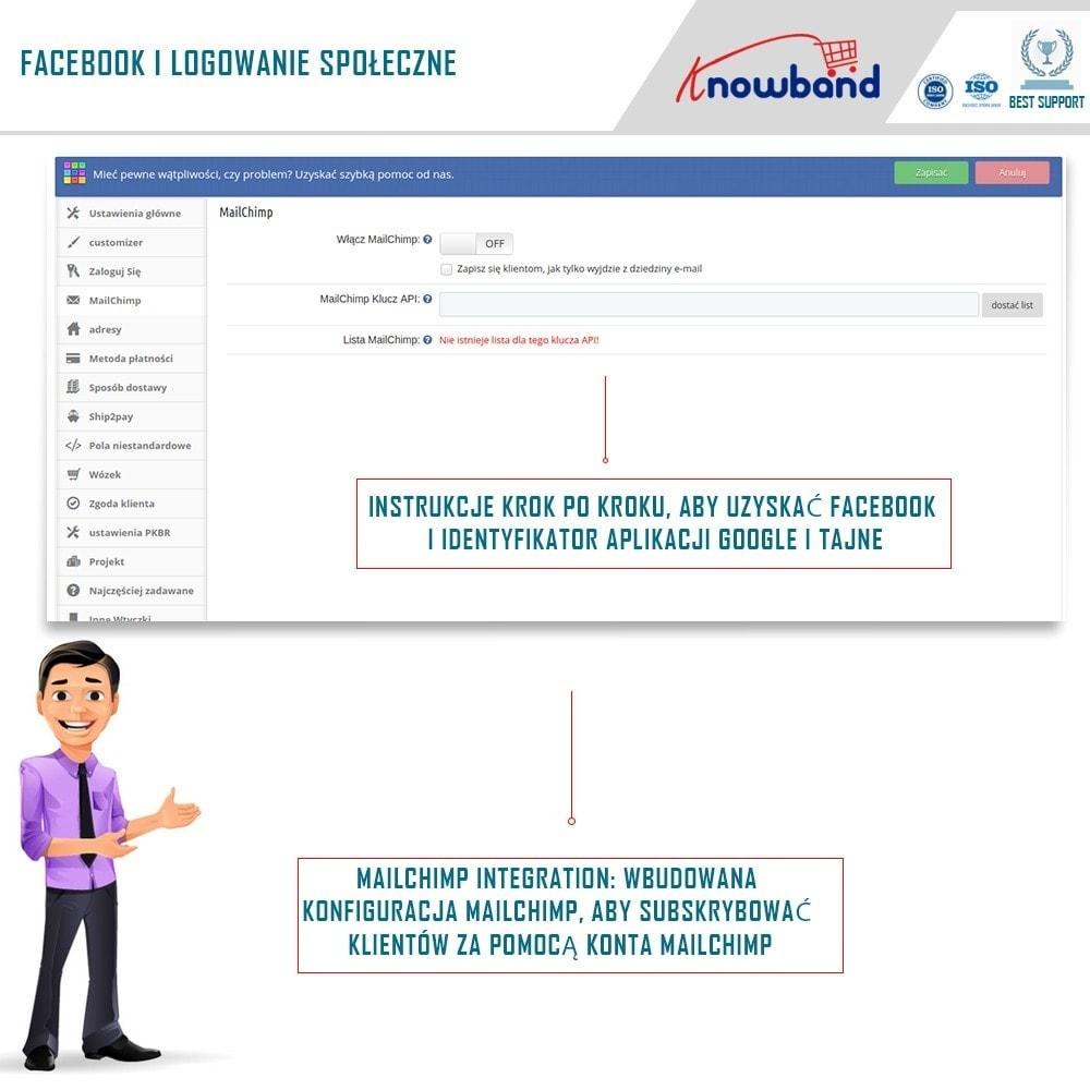 module - Szybki proces składania zamówienia - One Page Checkout, Social Login & Mailchimp - 14