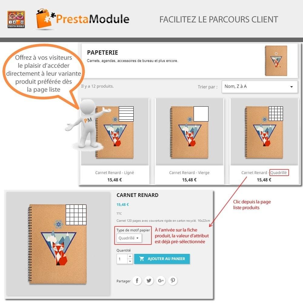 module - Déclinaisons & Personnalisation de produits - Products by Attributes: Afficher déclinaisons-attributs - 3