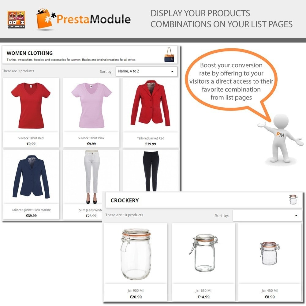 module - Combinations & Product Customization - Products by Attributes: Display combinations-attributes - 1