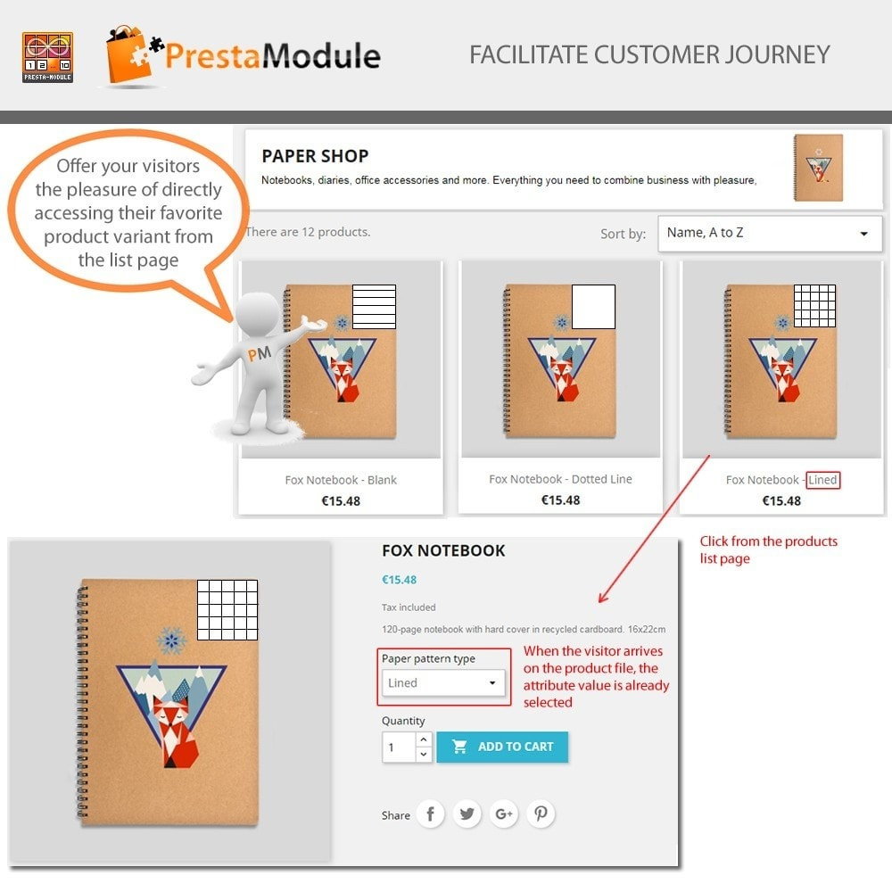 module - Combinazioni & Personalizzazione Prodotti - Products by Attributes: Mostra combinazioni-attributi - 3