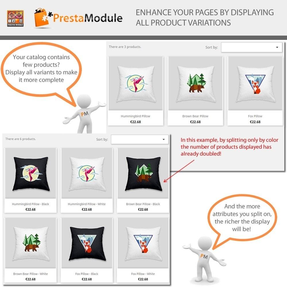 module - Combinazioni & Personalizzazione Prodotti - Products by Attributes: Mostra combinazioni-attributi - 4
