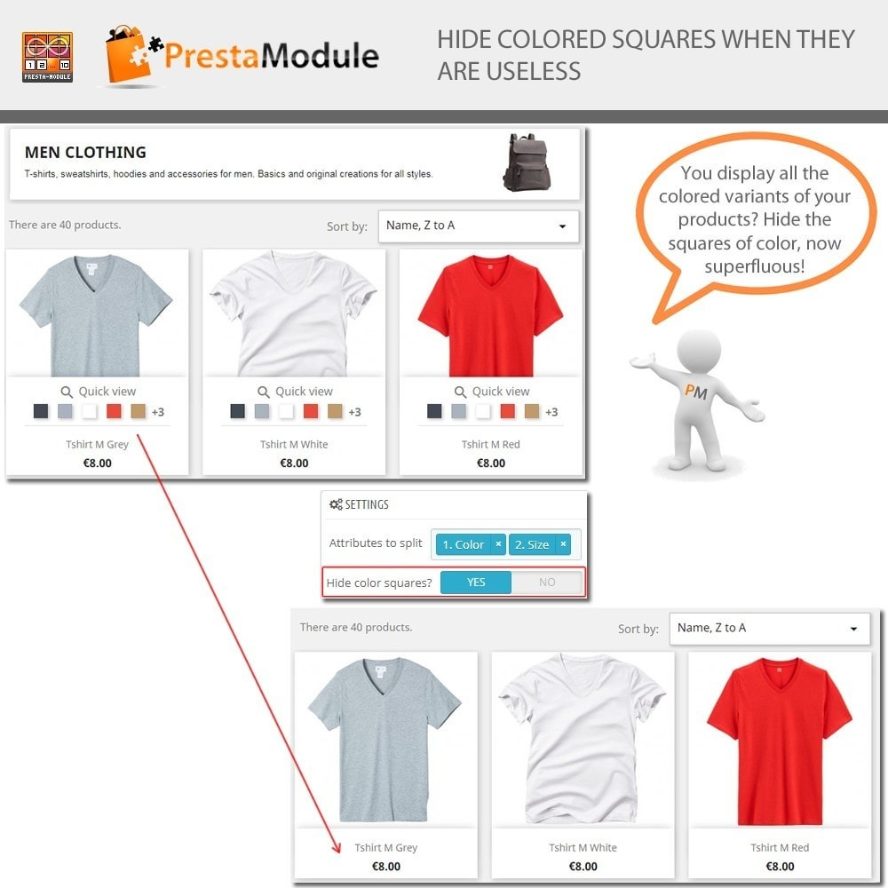 module - Combinations & Product Customization - Products by Attributes: Display combinations-attributes - 5