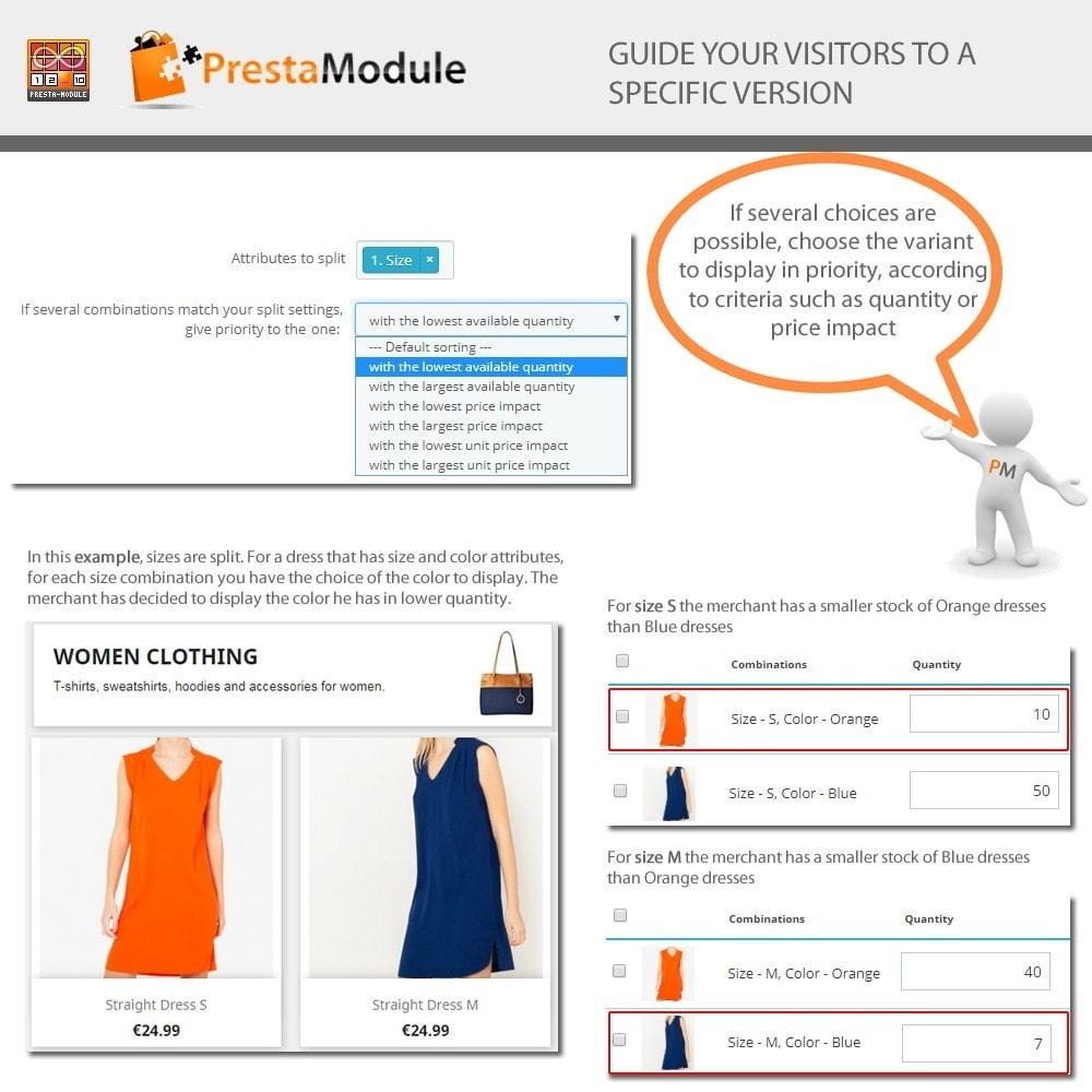 module - Combinazioni & Personalizzazione Prodotti - Products by Attributes: Mostra combinazioni-attributi - 6