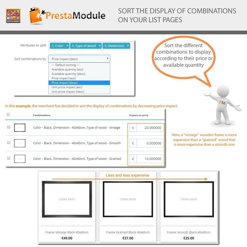 module - Combinazioni & Personalizzazione Prodotti - Products by Attributes: Mostra combinazioni-attributi - 7