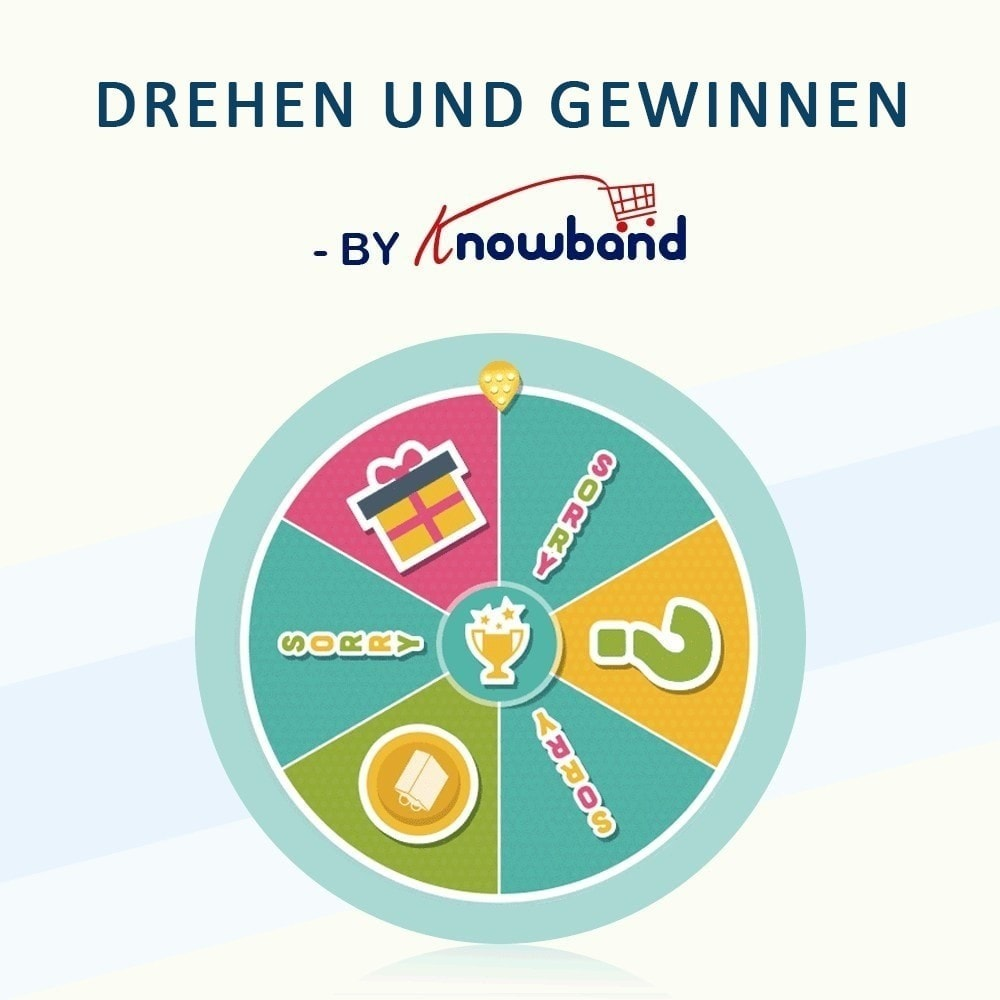 module - Promotion & Geschenke - Knowband-Entry,Exit and Subscription Popup-Spin and Win - 1