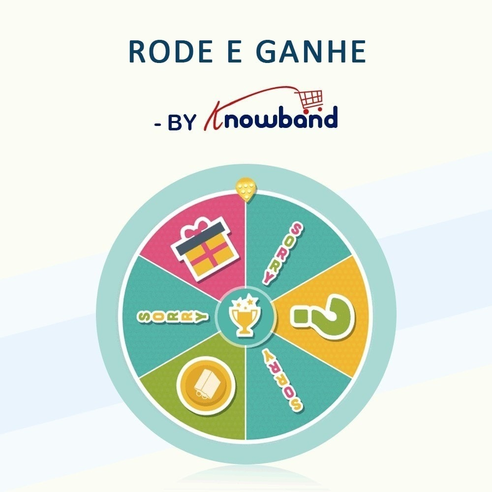module - Promoções & Brindes - Knowband-Entry,Exit and Subscription Popup-Spin and Win - 1