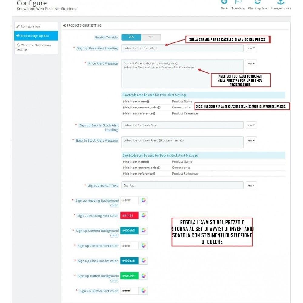 module - Promozioni & Regali - Web Push Notification - 4