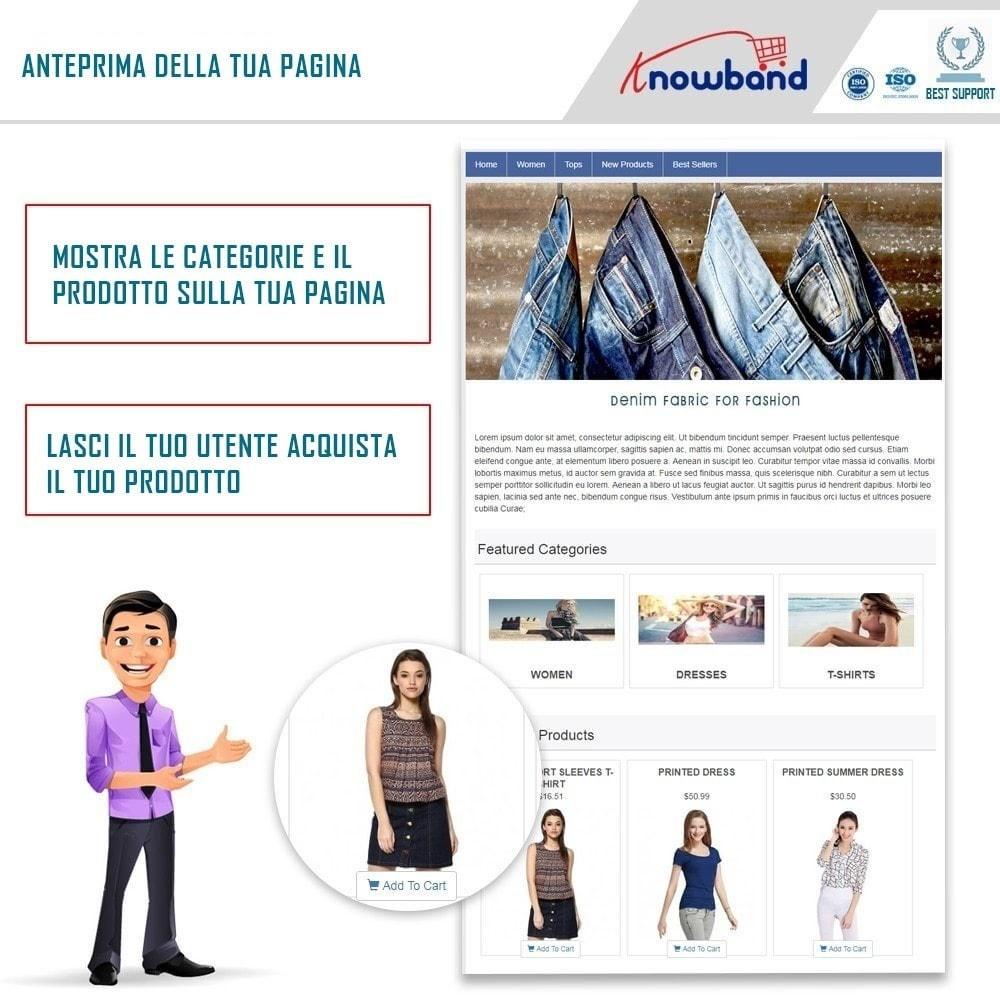 module - Prodotti sui Facebook & Social Network - Social Shop Integrator - 1