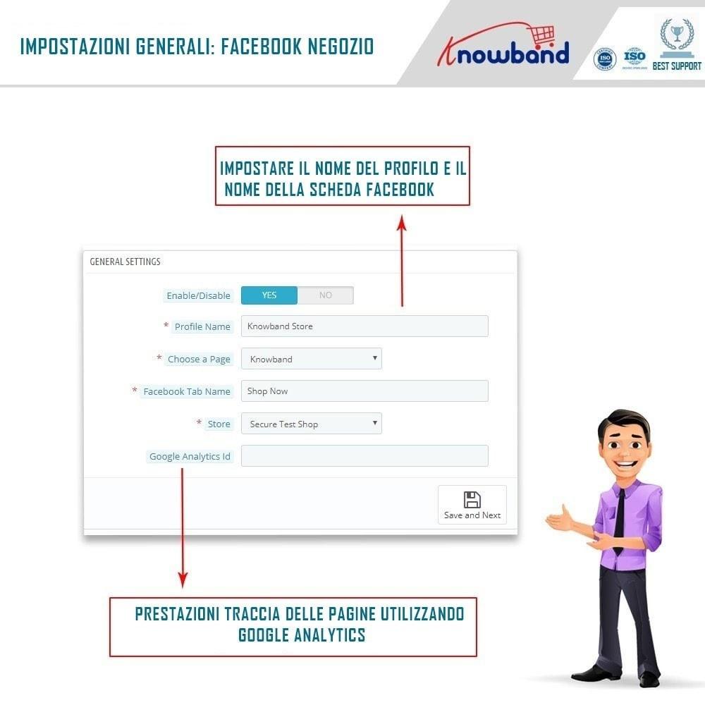 module - Prodotti sui Facebook & Social Network - Social Shop Integrator - 2