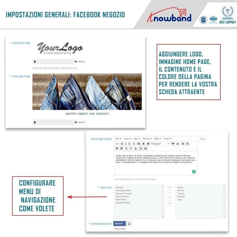 module - Prodotti sui Facebook & Social Network - Social Shop Integrator - 3