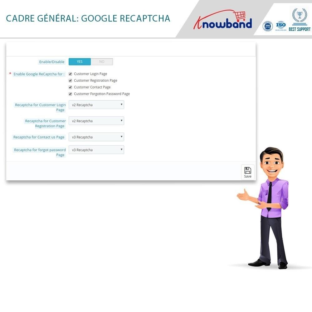 module - Sécurité & Accès - Google reCaptcha - 5