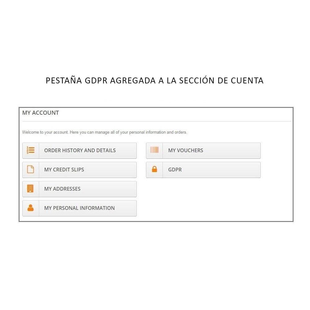 module - Marco Legal (Ley Europea) - Knowband - RGPD - Derechos de los Individuos - 3