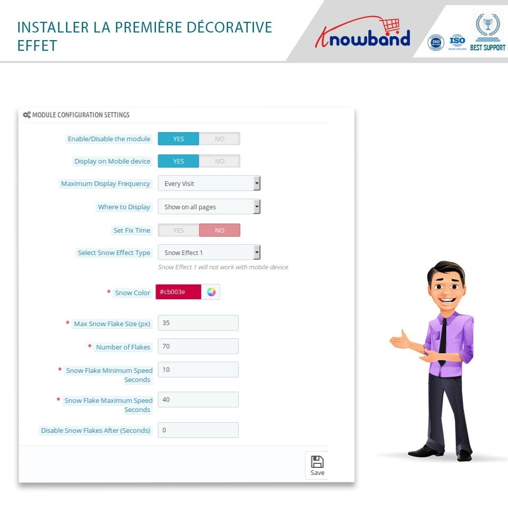 module - Personnalisation de Page - Knowband - Website Decoration Effects - 5