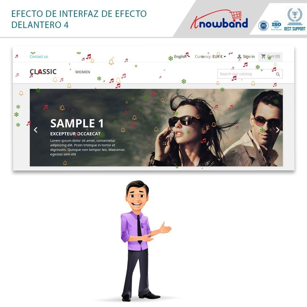 module - Personalización de la página - Knowband - Website Decoration Effects - 2