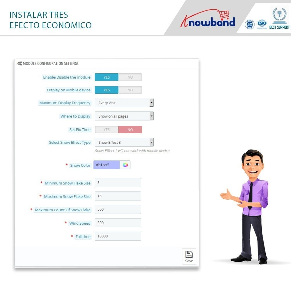 module - Personalización de la página - Knowband - Website Decoration Effects - 6