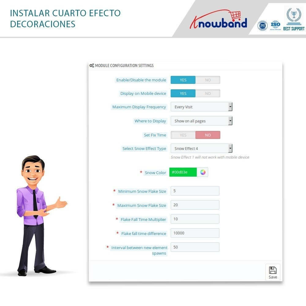 module - Personalización de la página - Knowband - Website Decoration Effects - 7
