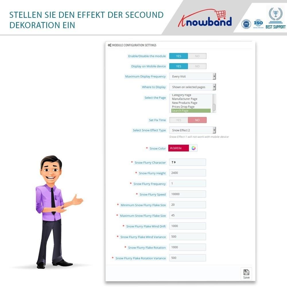 module - Individuelle Seitengestaltung - Knowband - Website Decoration Effects - 5
