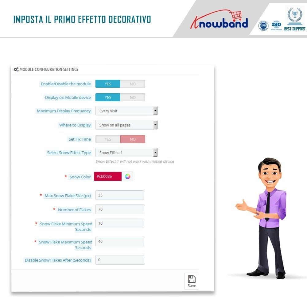 module - Personalizzazione pagine - Knowband - Website Decoration Effects - 4