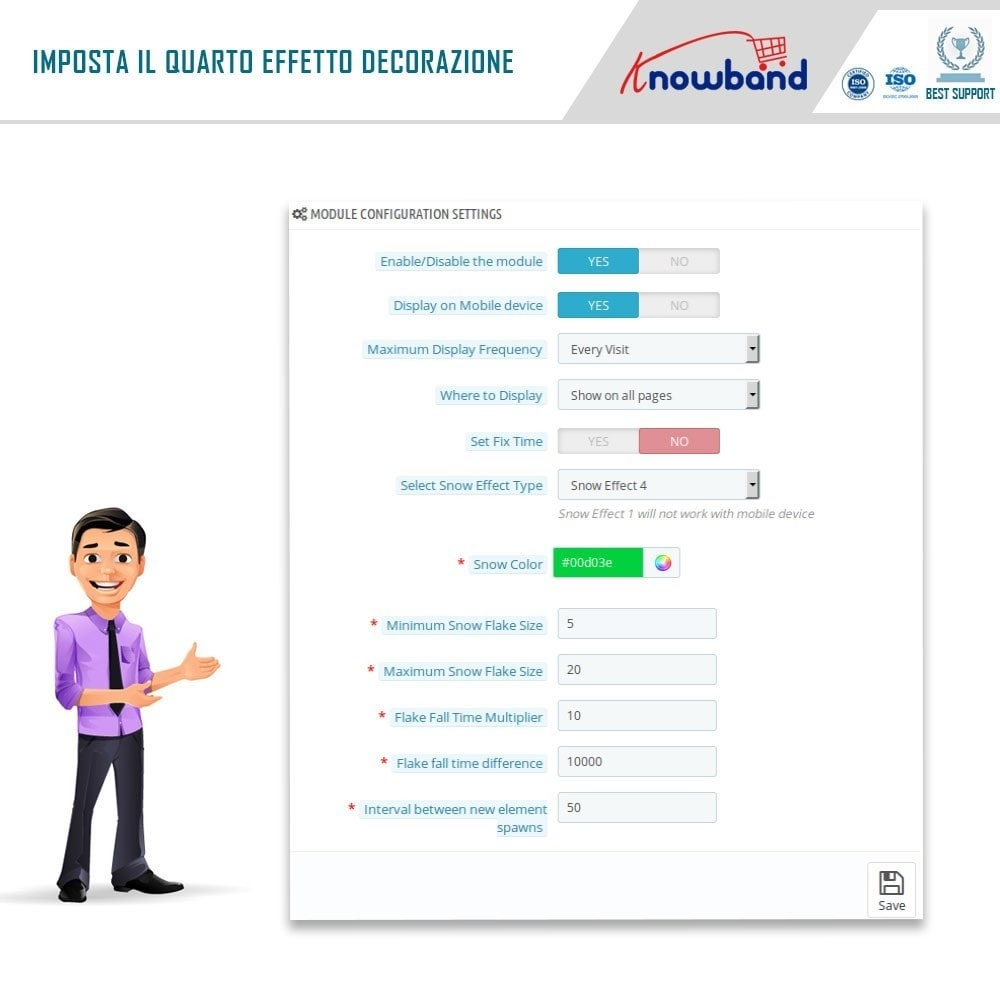 module - Personalizzazione pagine - Knowband - Website Decoration Effects - 6