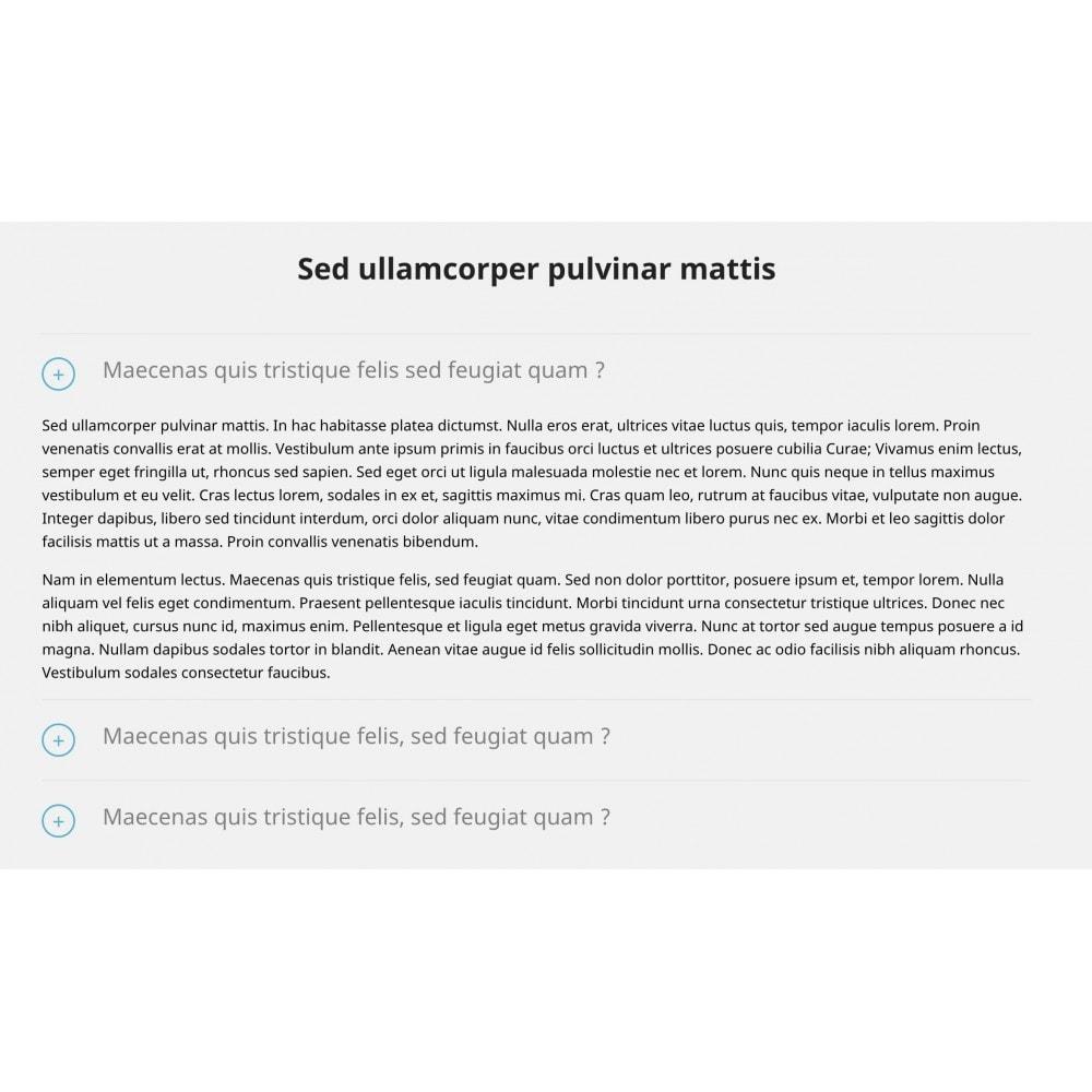 module - Blog, Forum & Actualités - Contenu accordéon - 4