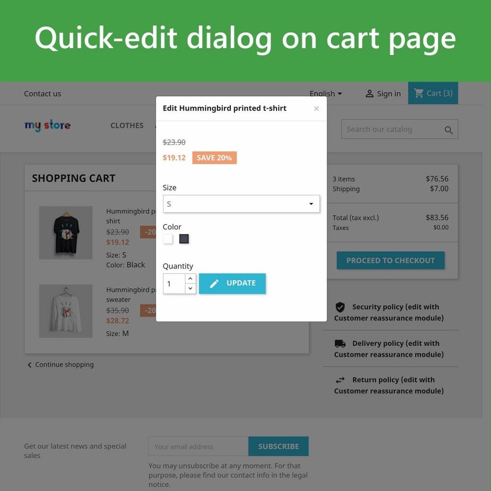 module - Deklinacje & Personalizacja produktów - Edit Products in Cart - 3