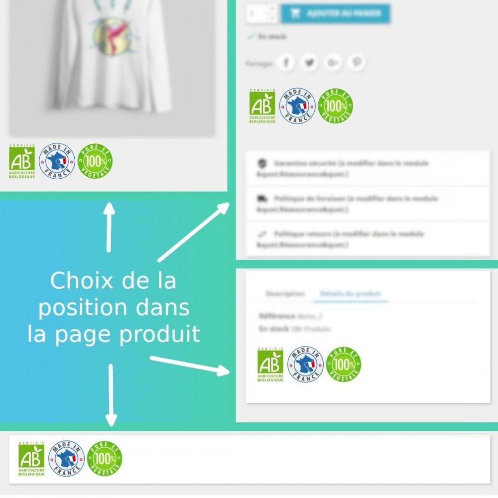 module - Information supplémentaire & Onglet produit - Images pour les caractéristiques produits - 1