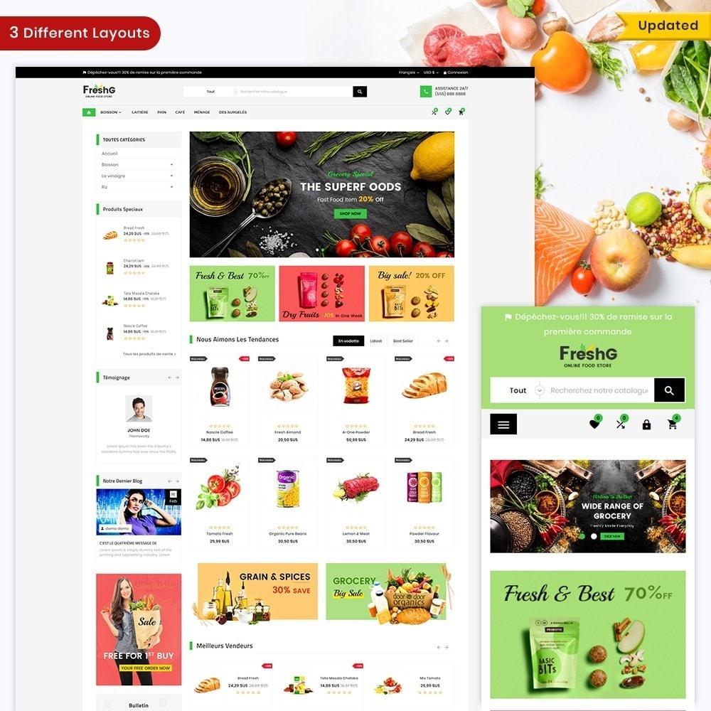 theme - Alimentation & Restauration - FreshG Mega Grocery–Food Drink–Coffee Super Store v3 - 1