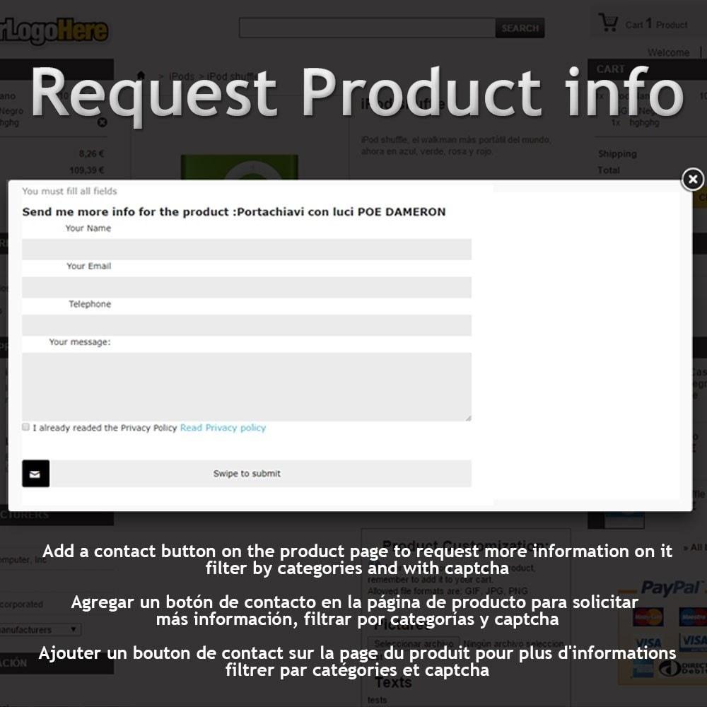 module - Formulaires de Contact & Sondages - Request Product Info - 1