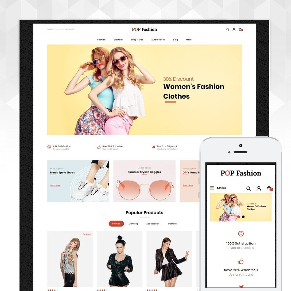 theme - Moda & Obuwie - Popfashion - Fashion Store - 1