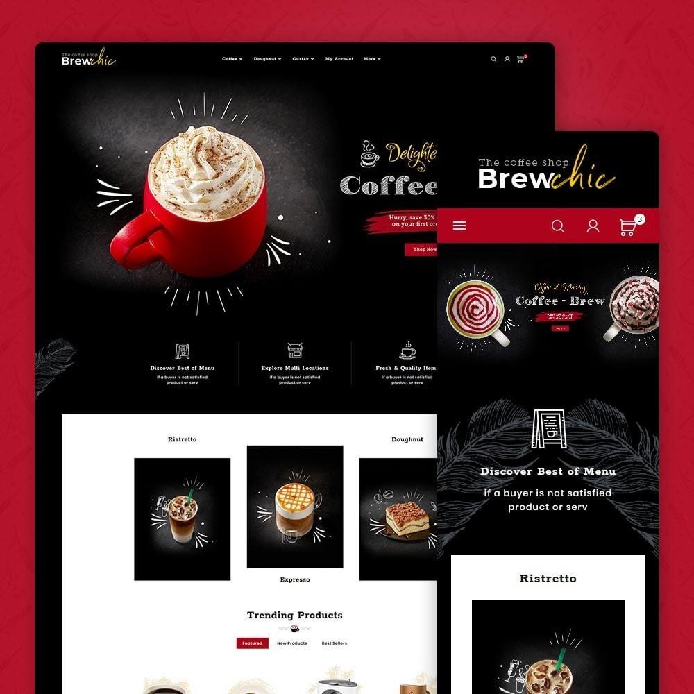 theme - Bebidas y Tabaco - Brew Chic - Coffee Shop - 1