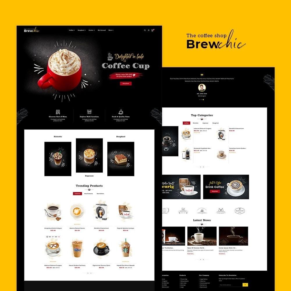 theme - Bebidas y Tabaco - Brew Chic - Coffee Shop - 2