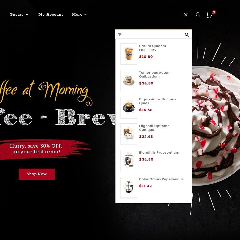 theme - Bebidas y Tabaco - Brew Chic - Coffee Shop - 10