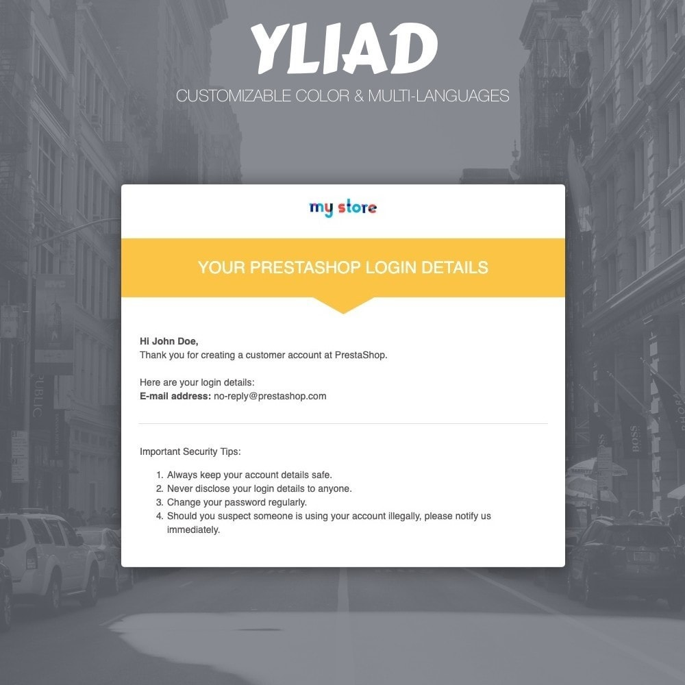 email - Email templates PrestaShop - Yliad - Professional and responsive email templates - 2