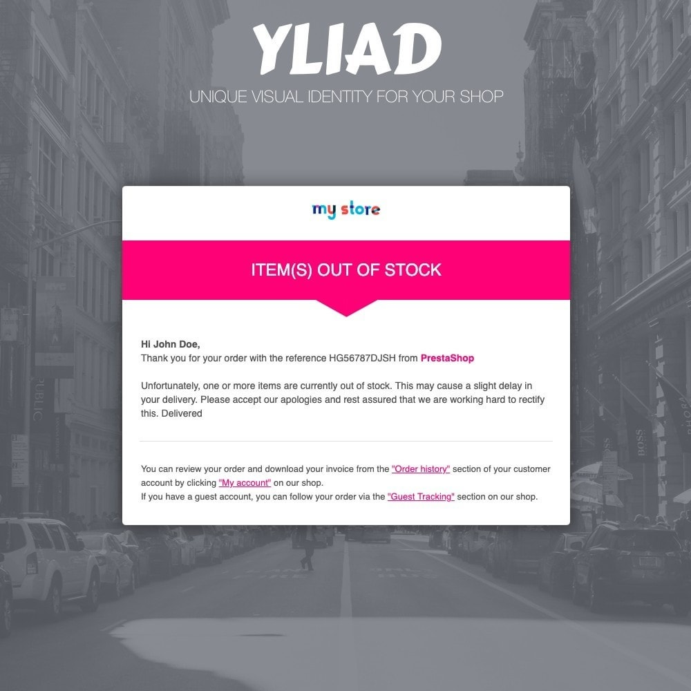 email - Email templates PrestaShop - Yliad - Professional and responsive email templates - 3