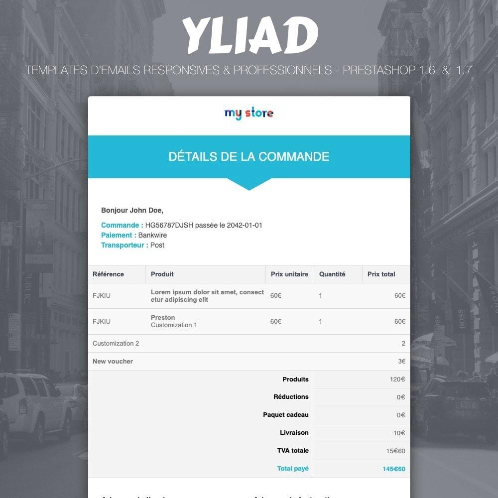 email - Templates d'e-mails PrestaShop - Yliad - Template d'emails responsives et professionnels - 1