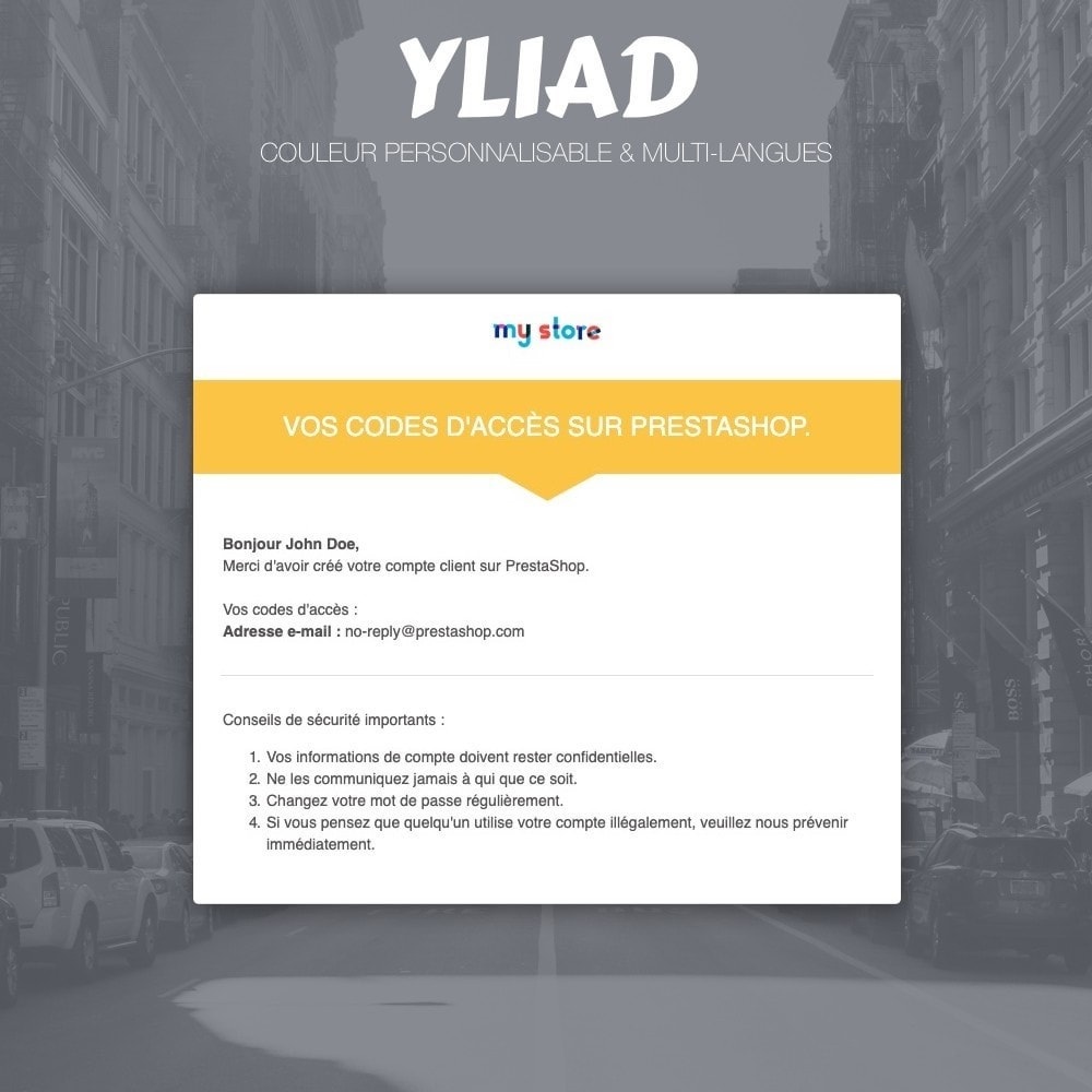 email - Templates d'e-mails PrestaShop - Yliad - Template d'emails responsives et professionnels - 2