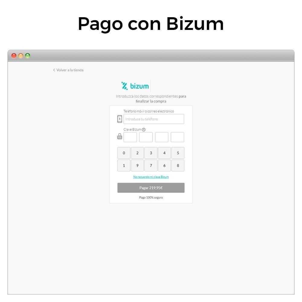 module - Pago con Tarjeta o Carteras digitales - Bizum - Pago con el móvil (con recargos y descuentos) - 3