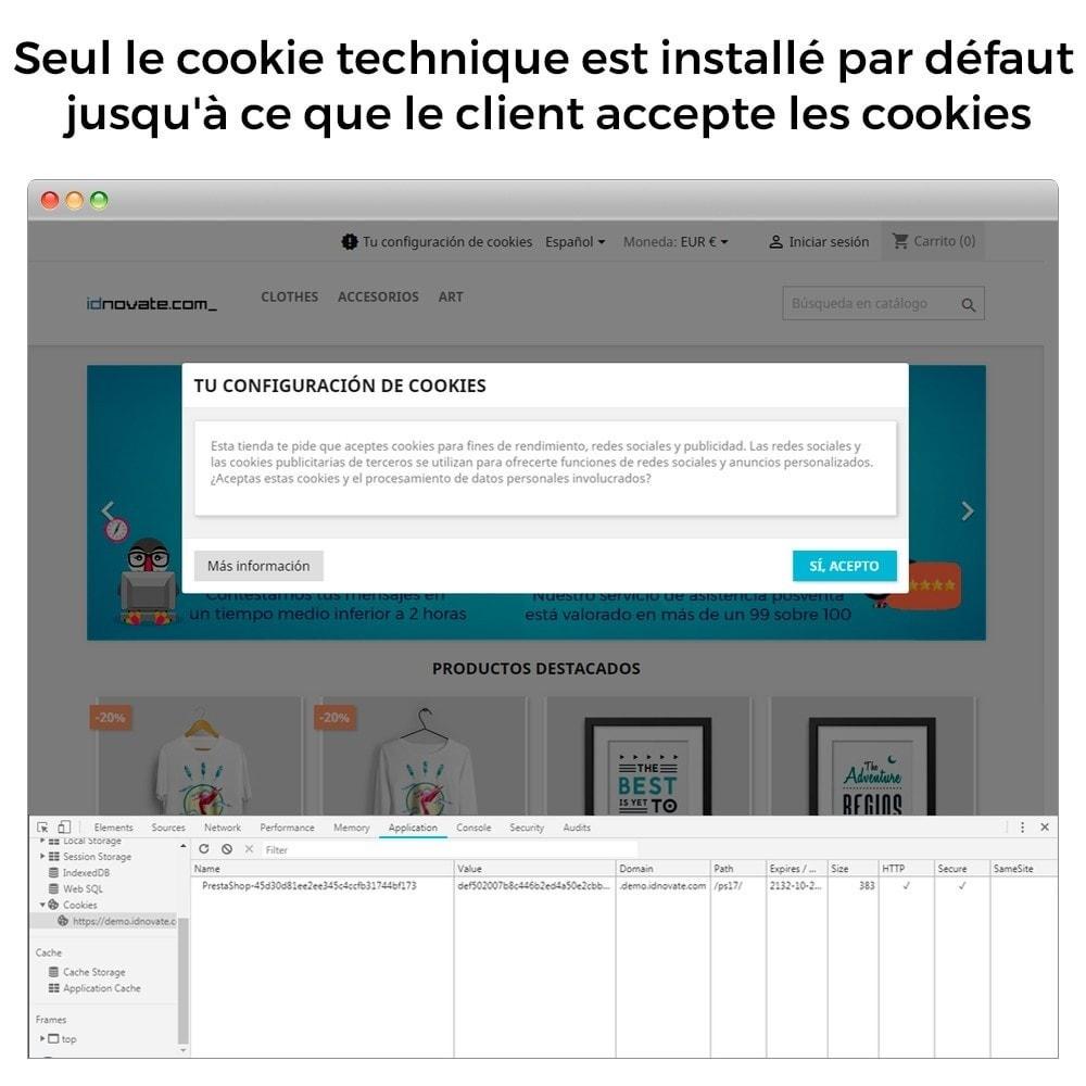 module - Législation - Cookies - Loi RGPD 2021- CNIL Approbation - 7
