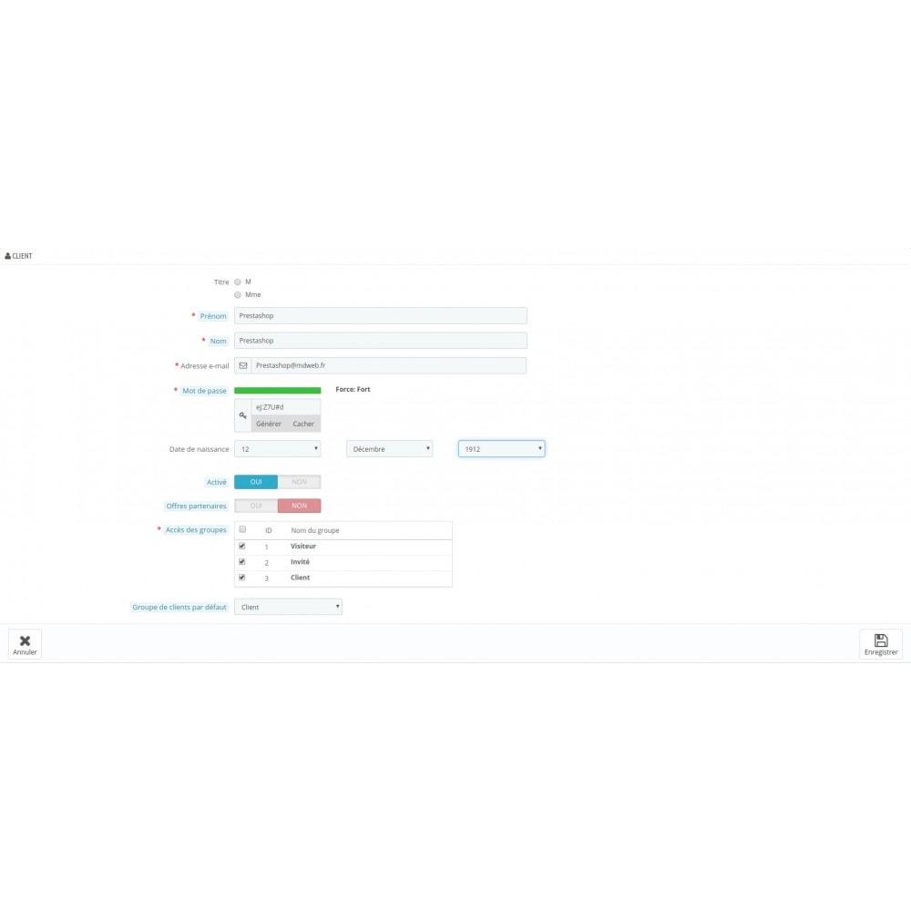 module - Sécurité & Accès - RGPD - Sécurité des mots de passe client - 2