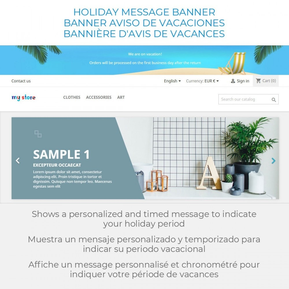 module - SAC - Message on Holiday - 2