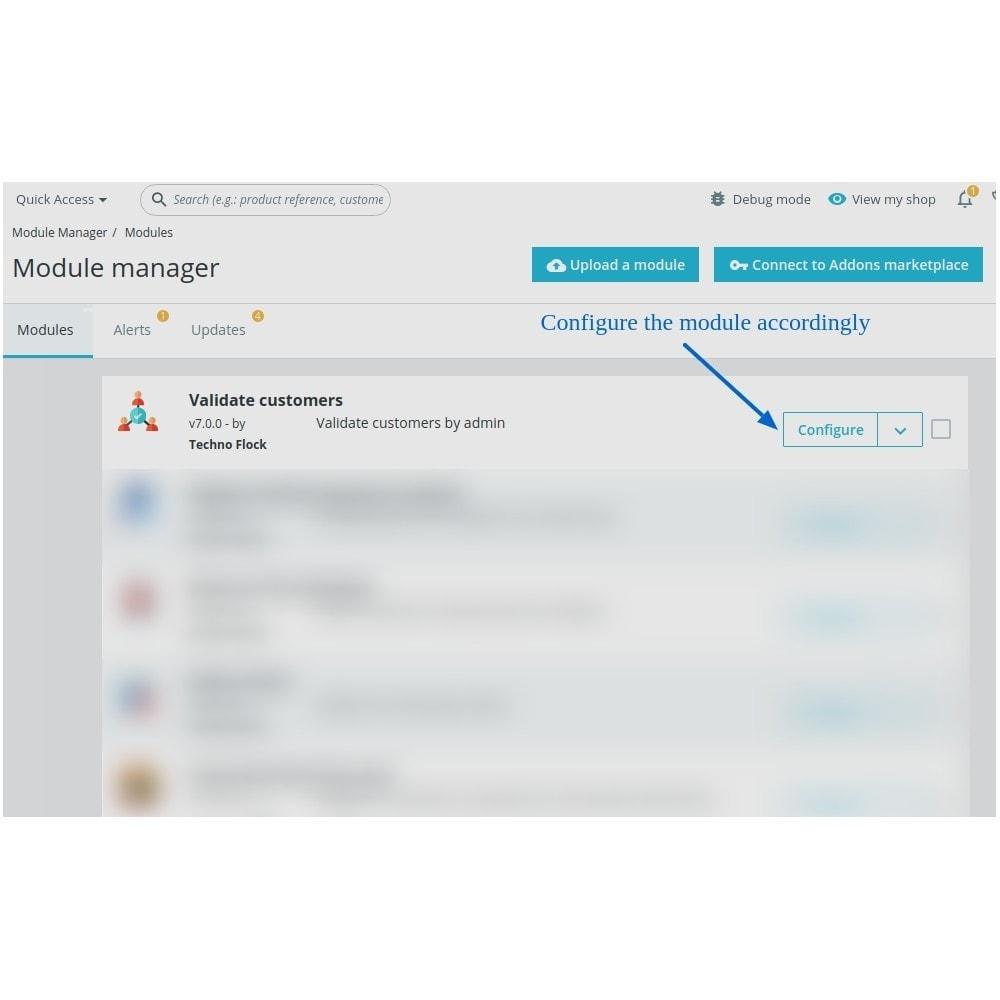 module - Administração dos Clientes - Customer Validate By Admin - 1