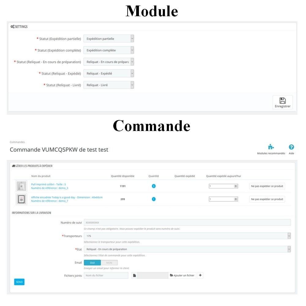 module - Transporteurs - Livraison partielle avancée - 1
