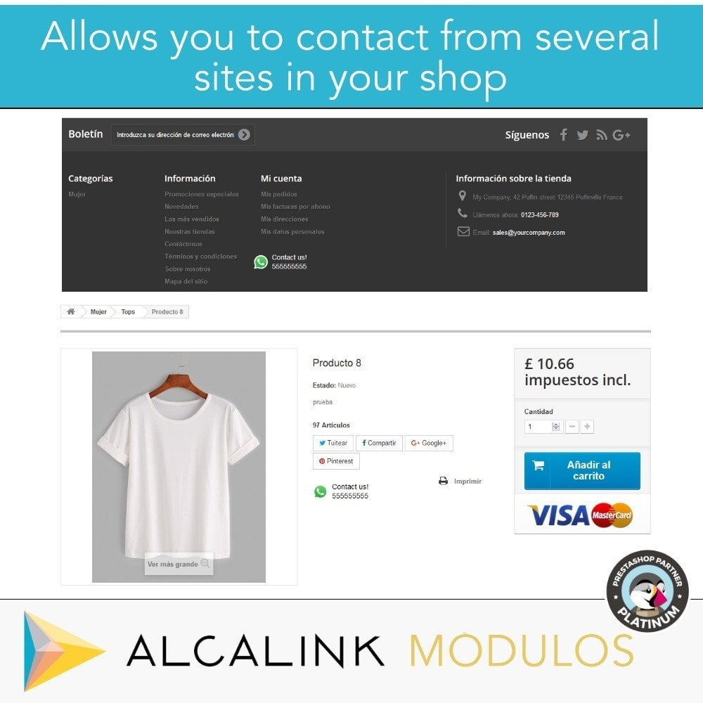 module - Support & Online-Chat - Contact for WhatsApp on 1 Click - 8
