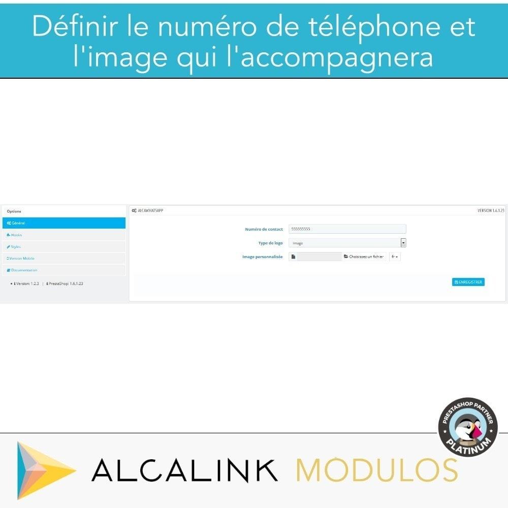 module - Support & Chat Online - Contacté par WhatsApp en 1 clic - 2