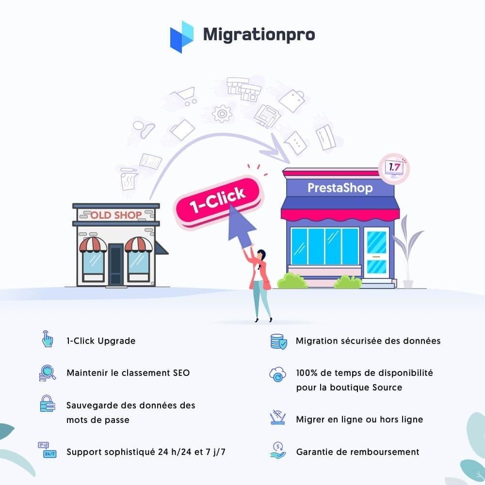 module - Migration de Données & Sauvegarde - Outil de migration PrestaShop – Passez à PrestaShop 1.7 - 1