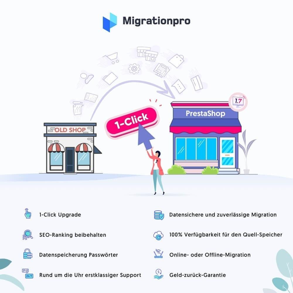 module - Datenmigration & Backup - MigrationPro: Prestashop Upgrade und Migrationstool - 1