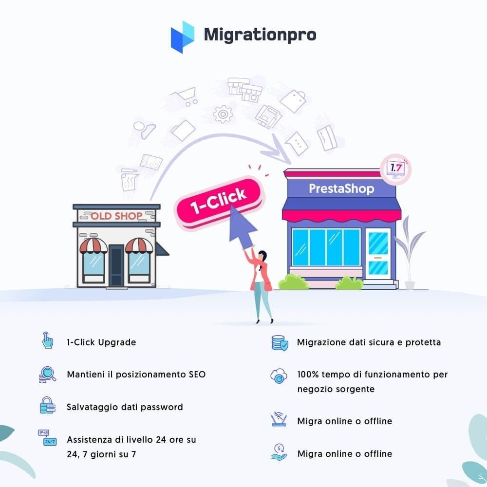 module - Data Migration & Backup - Tool di Aggiornamento e Migrazione di Prestashop - 1