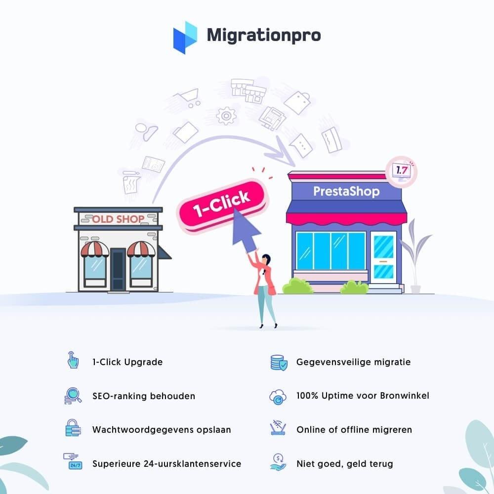 module - Migratie & Backup - MigrationPro: upgrade- en Migratietool voor Prestashop - 1